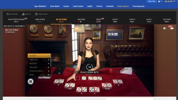 lavivabet Beton Poker